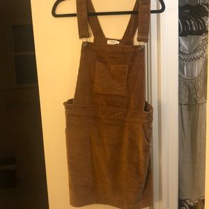 Mustard corduroy shortall dress